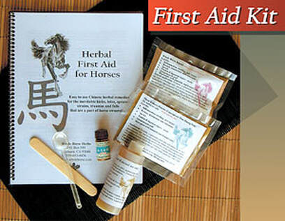 Whole Horse Herb's portable first aid kit